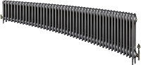 Eastgate Victoriana 3 Column 45 Section Cast Iron Radiator 450mm High x 2743mm Wide - Metallic Finish
